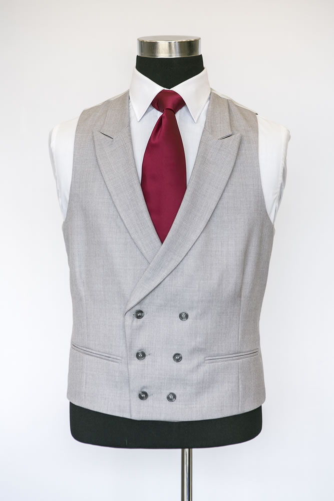Double Breasted Dove Grey Waistcoat