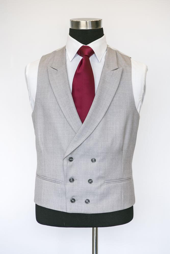 Double Breasted Dove Grey Waistcoat