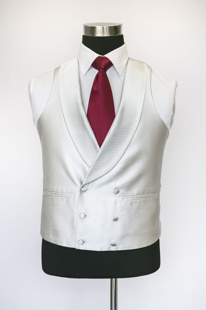 Double Breasted Silver Elite Waistcoat