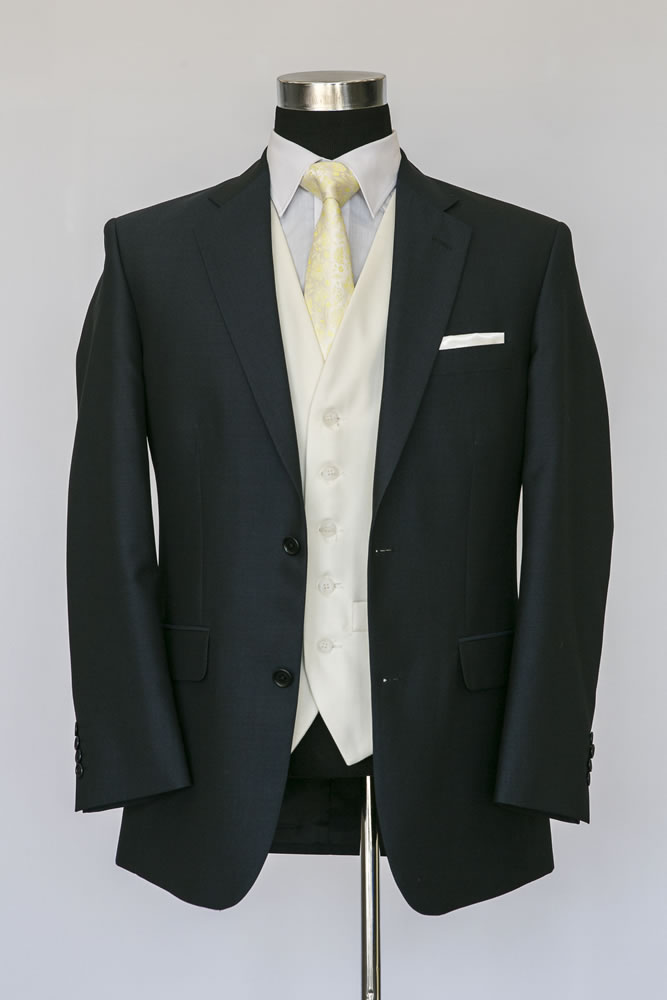 Navy Mohair Lounge Suit 3