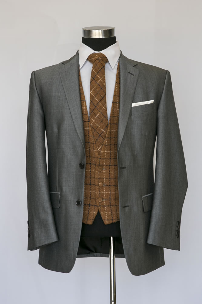 Silver Mohair Lounge Suit 1