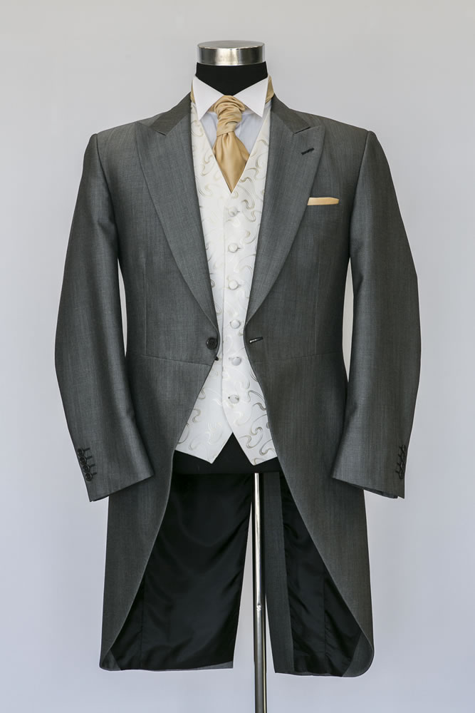 Silver Mohair Morning Suit 1
