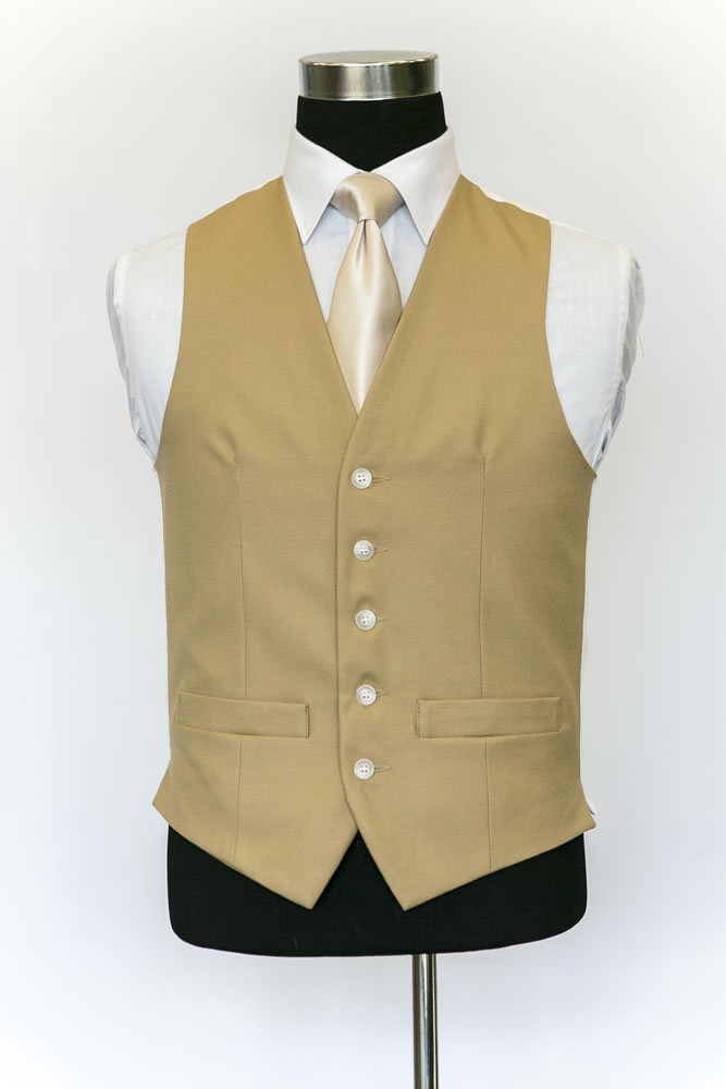 Single Breasted Brown Wool Waistcoat