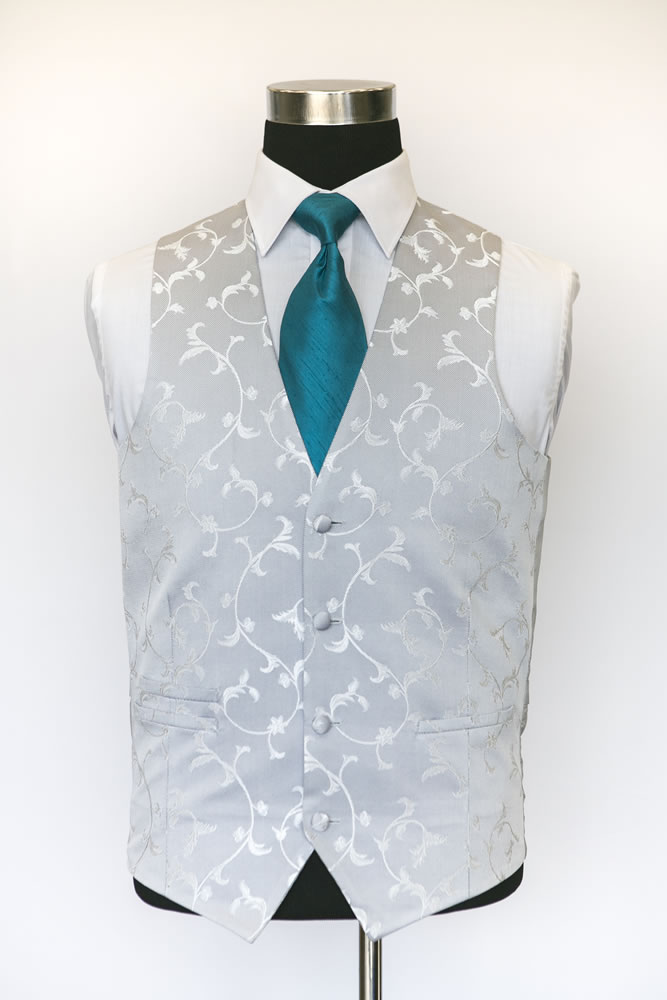 Single Breasted Grey Sinartra Waistcoat