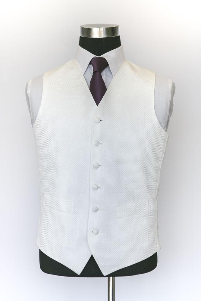 Single Breasted Ivory Rhode Island Waistcoat