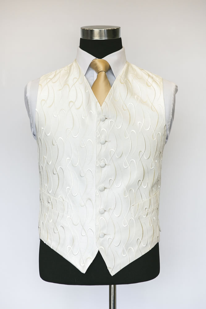 Single Breasted Ivory Sophia Waistcoat