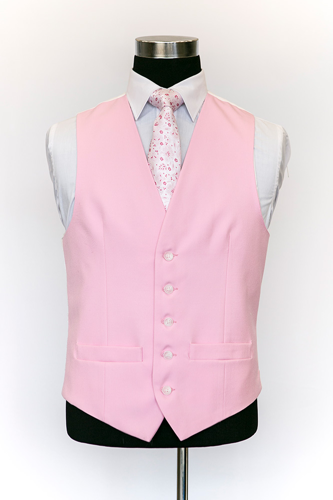 Single-Breasted-Pink-Wool-Waistcoat