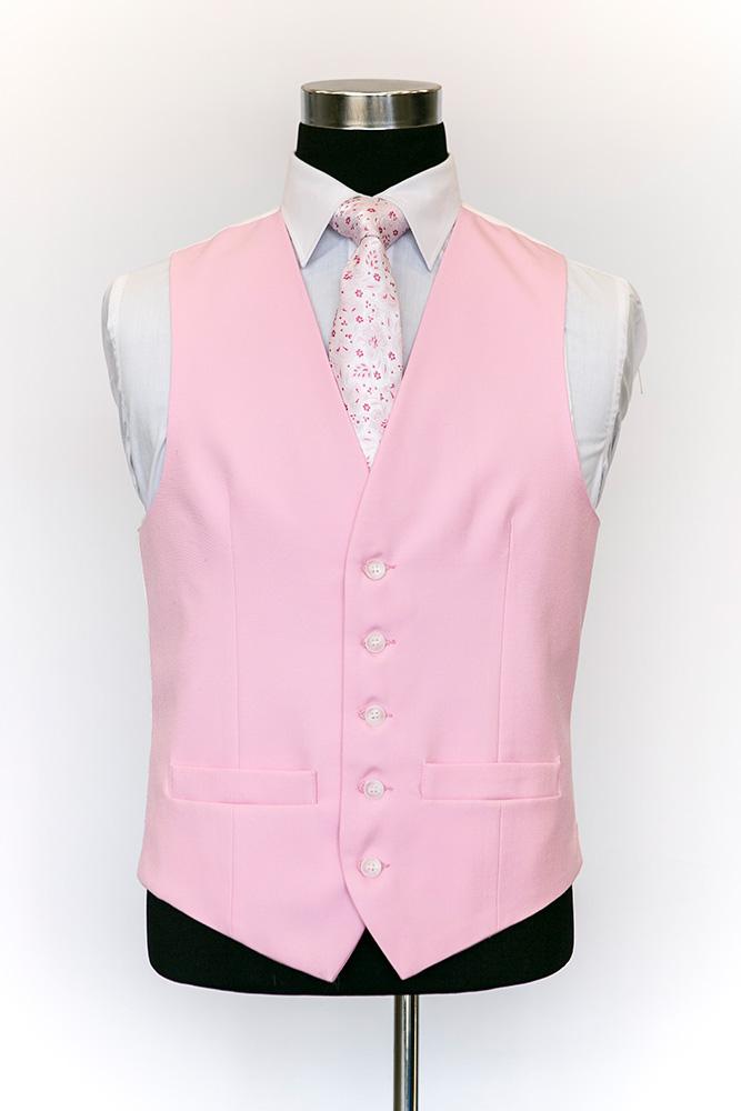 Single-Breasted-Pink-Wool-Waistcoat