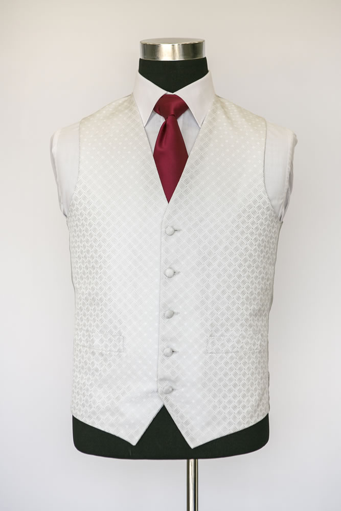 Single Breasted Ritz Ivory Waistcoat