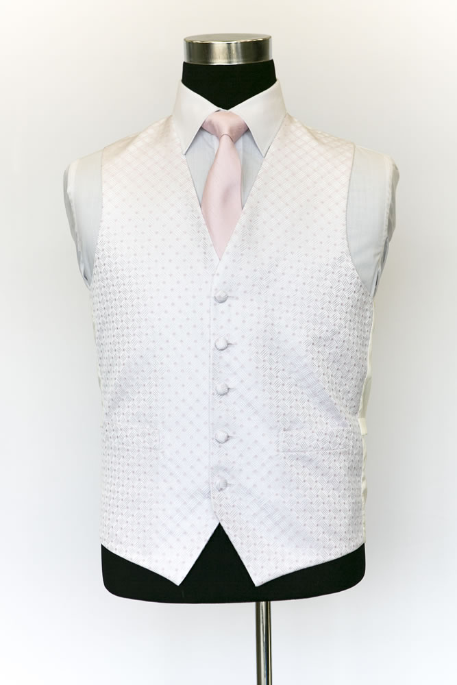 Single Breasted Ritz Pink Waistcoat