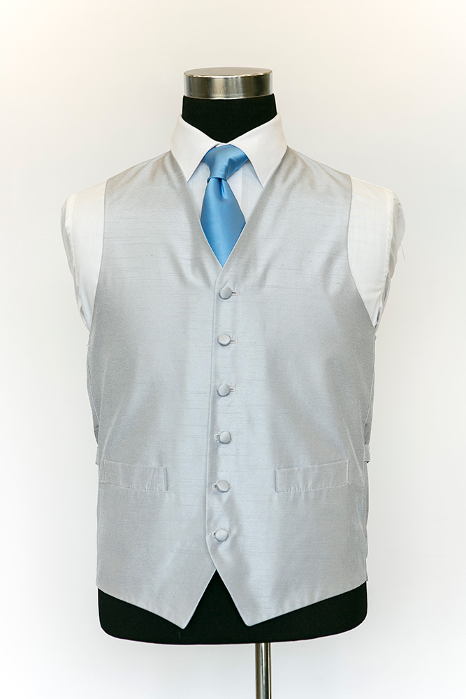 Single-Breasted-Silver-Silk-Waistcoat
