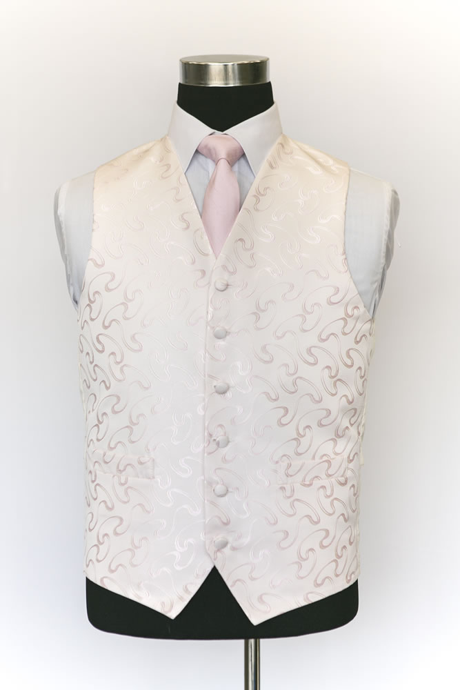 Single Breasted Vouvray Pink Waistcoat