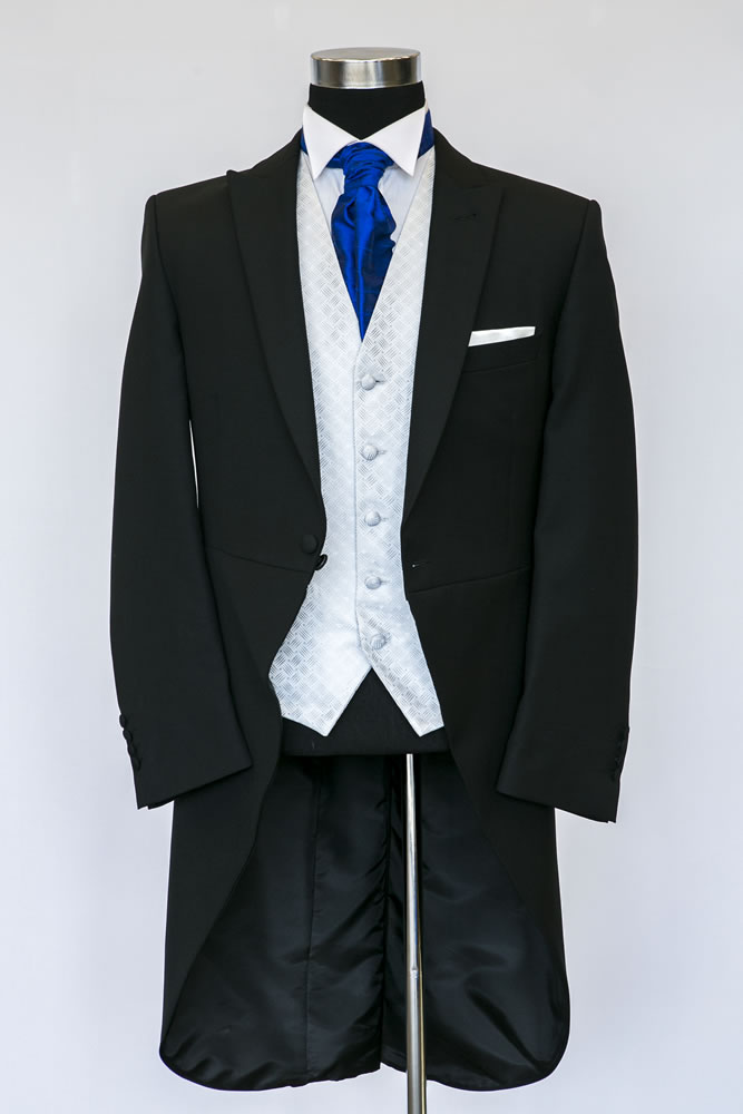 Slim Fit Black Morning Suit