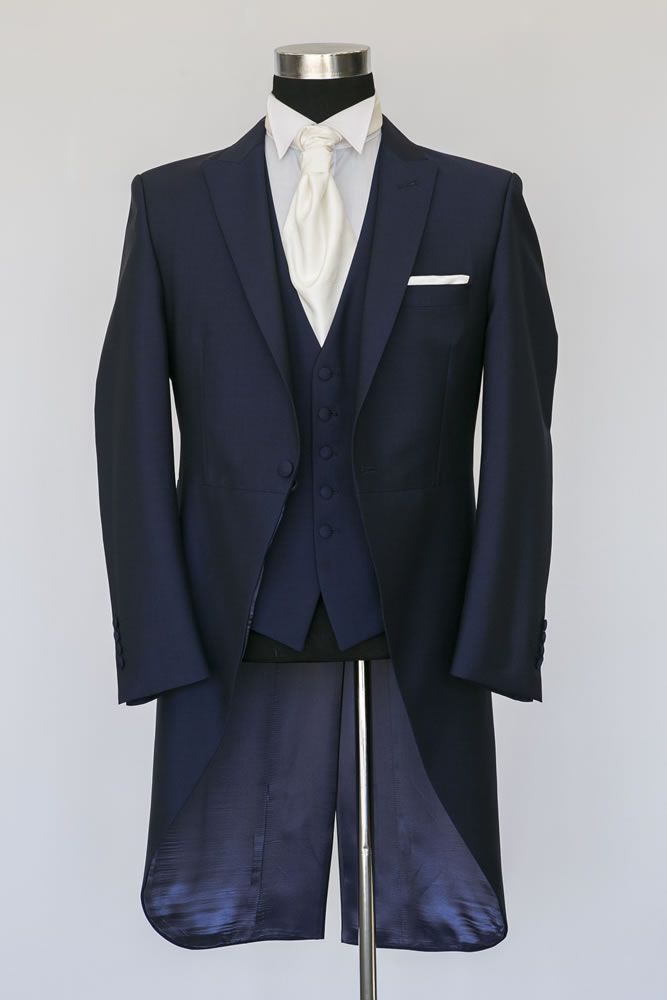 Slim Fit Royal Navy Morning Suit 1