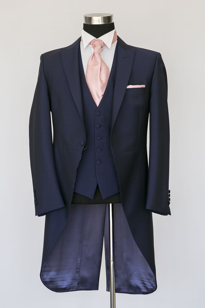 Slim Fit Royal Navy Morning Suit 2