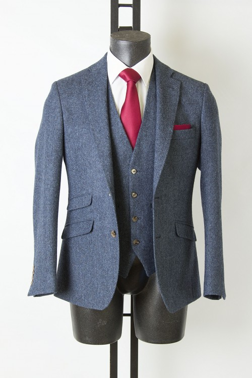 Navy Tweed Suit
