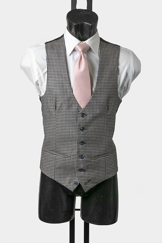 Country Check Scalloped Waistcoat