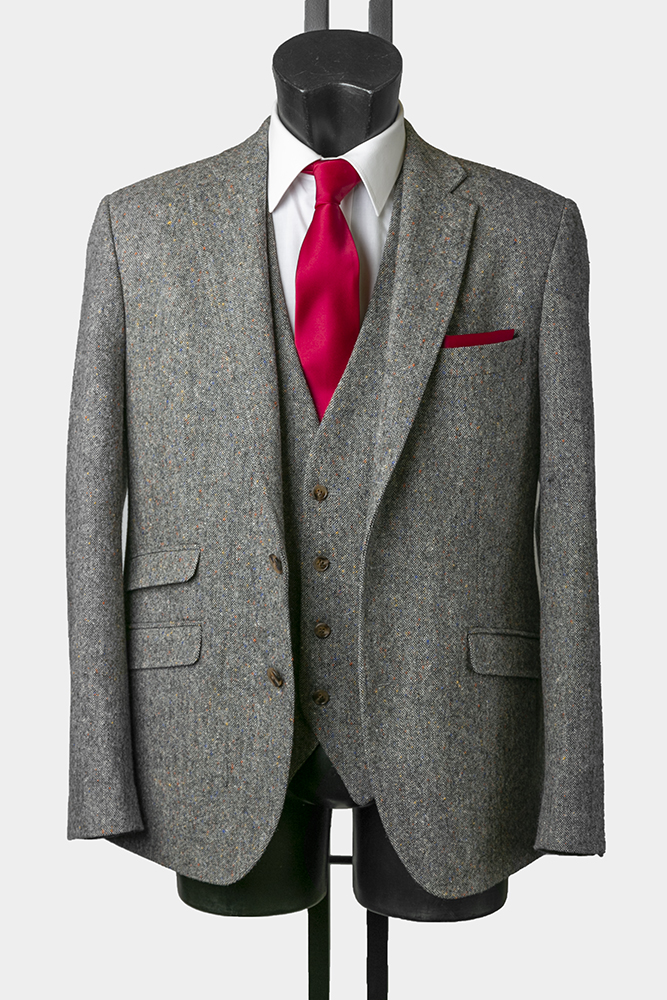 Stone Tweed Suit