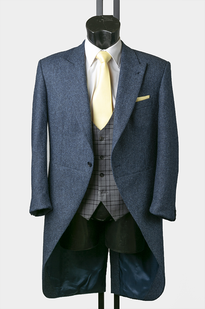 Navy Tweed Morning Suit