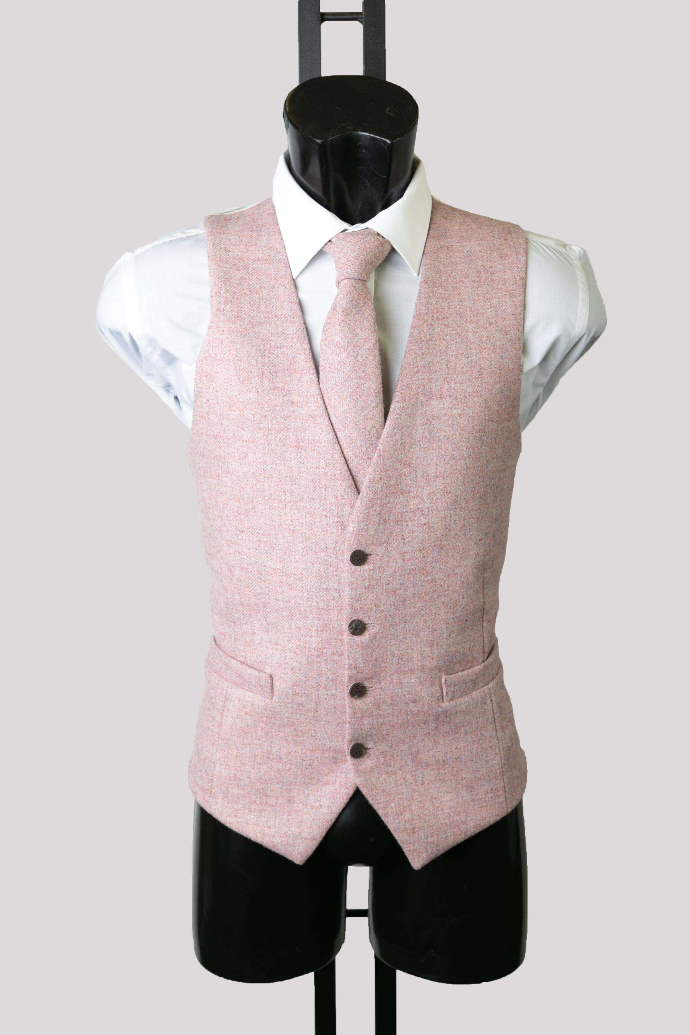 Pink Twill Waistcoat